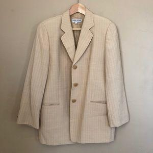 Giorgio Armani 80's tan 3 button structured blazer